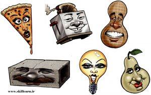 طراحی سر در کاریکاتور - آموزش کشیدن کاریکاتور – بخش چهارم