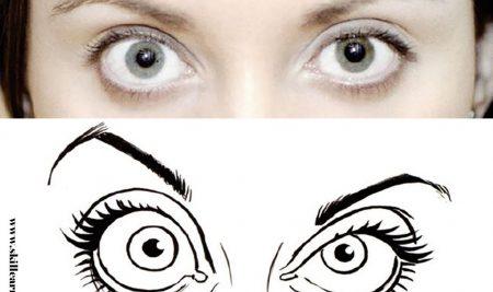 آموزش طراحی کاریکاتور چهره – بخش پنجم – طراحی چشم ها در کاریکاتور