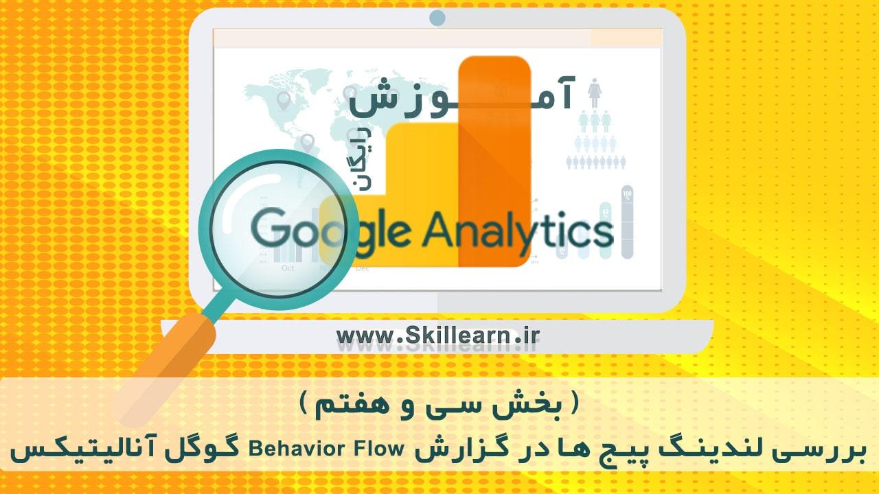 بررسی لندینگ پیج ها در گزارش Behavior Flow گوگل آنالیتیکس